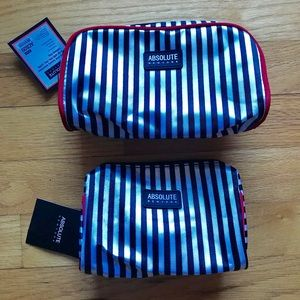 2 absolute make up bags. NWT